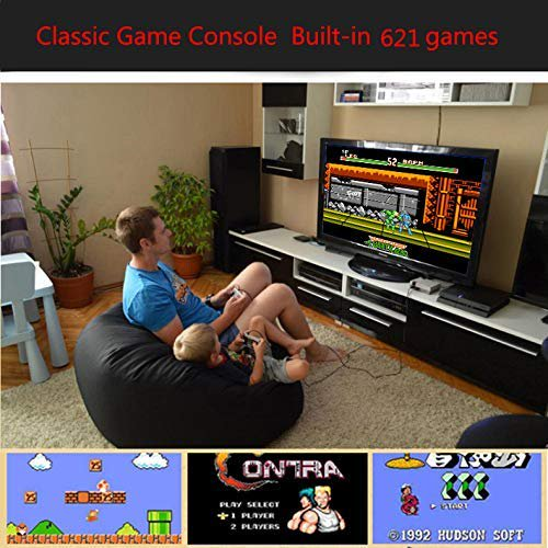 Classic Mini Game Console Childhood Game Consoles Built-in 621 Game Dual Control 8-Bit Console Handheld Game Player Console for Family