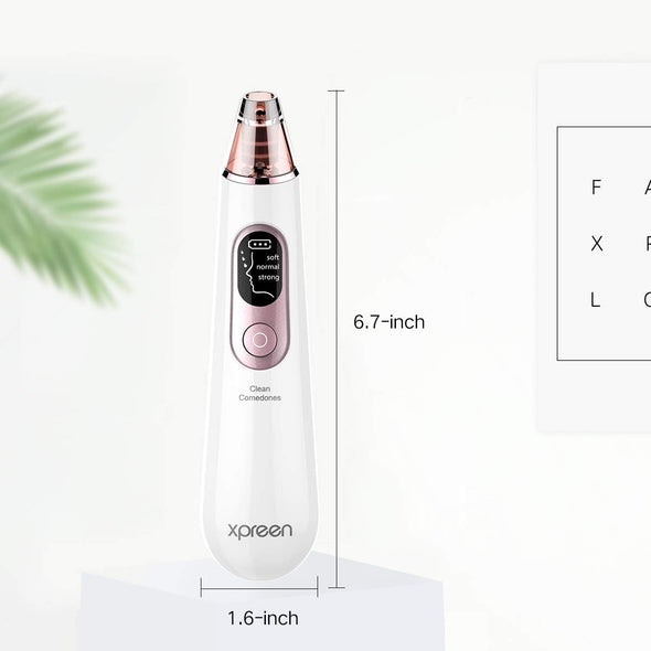 Blackhead Remover Vacuum Pore Cleaner,2019 Upgraded USB Rechargeable Electric Pore Vacuum Facial Pore Cleaner Acne Comedone Extractor kit for All Skin Treatment