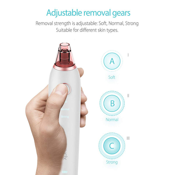 Blackhead Remover Pore Vacuum Suction,Electric Facial Pore Cleaner 4 in 1 USB Rechargeable Pore Sucker Acne Comedone Extractor Tool with 3 Adjustable Suction For Men and Women