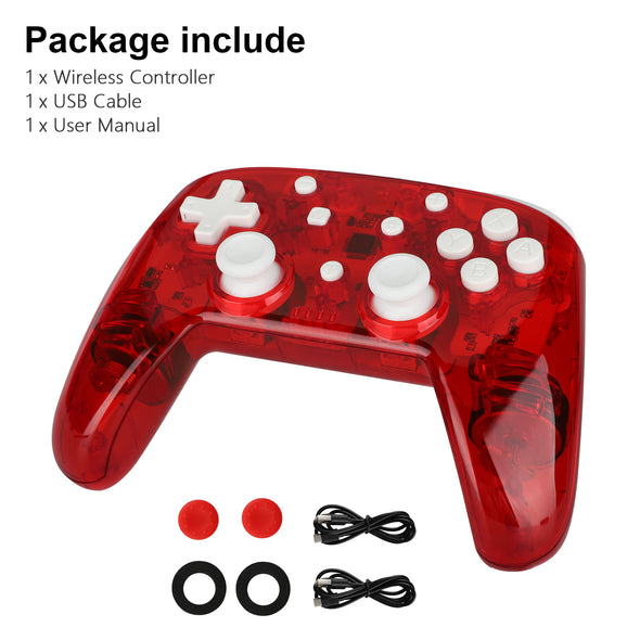 Switch Controller for Nintendo Switch/Switch Lite, EEEkit Switch Remote Pro Controller Switch for Nintendo Console, Switch Turbo Controller with Dual Shock & Motion Control