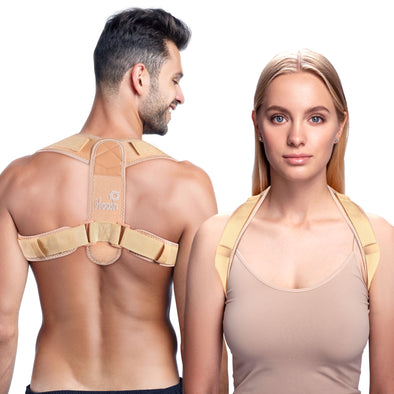 Hoosh Back Posture Corrector for Women & Men - Back Straightener, Shoulder & Upper Back Brace for Posture Correction, Posture Harness - Comfortable & Invisible Under Clothes, Durable, Universal