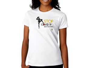 Stop Covid 19- Womens T-Shirts