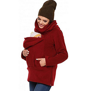 Multifunctional Warm Winter Women Kangaroo Baby Carrier Hoodie Jacket Pregnant Clothing Coat Carrier Baby