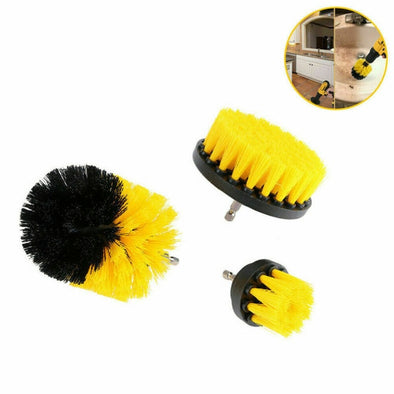 3pcs Power Scrubber Brush Sets Electric Drill Cleaning Brush Tool For Cordless Drill Attachment Kit Power Scrub Brush