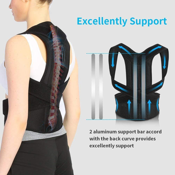 Posture Corrector Back Posture Brace Clavicle Support Stop Slouching and Hunching Adjustable Back Trainer Unisex
