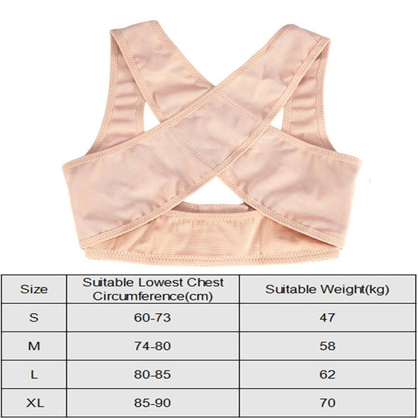 Adjustable Women Breast Back Support Belt Chest Holder Support Posture Corrector Body Shaper Corset Upper Shoulder Brace Bandage