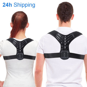 Back Adjustable Posture Corrector Belt Clavicle Spine Men Women Workplace Outdoor Upper Back Shoulder Lumbar Posture Correction