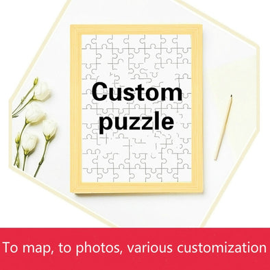Jigsaw Puzzle Custom Photo Live-action DIY Homemade Adult Decompression Large Couple Gift Personalized custom puzzle