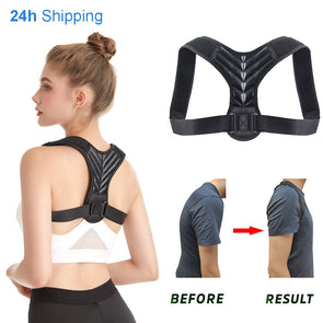 2020 New Clavicle Spine Physical Adjustable Back Posture Corrector Belt Men Women Home Office Upper Shoulder Posture Correction
