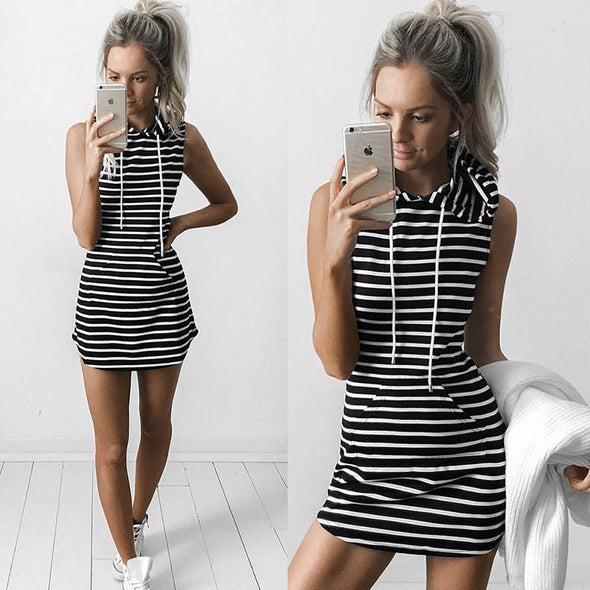 Pacomio Striped Sleeveless Dress