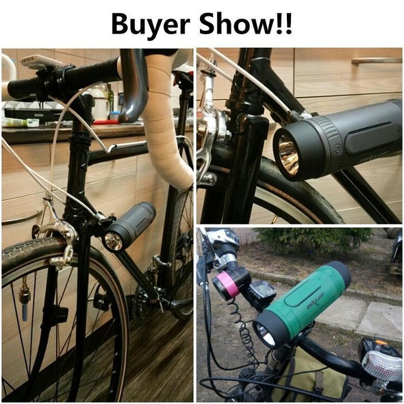 Bicycle Power Bank LED Light Speaker
