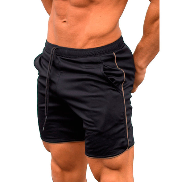 Quick Dry Shorts Men Summer Men's Casual Shorts Solid Fitness Man's Short With Pockets Straps Inside Trunks Beach Shorts 2019