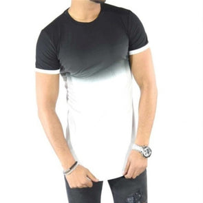 Men Gradient Printed T-Shirt