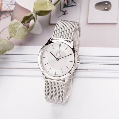 CalvinKlein MINIMAL Series Woven Quartz Ladies Watch