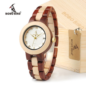 BOBO BIRD M19 Rose Sandal Wood Watch