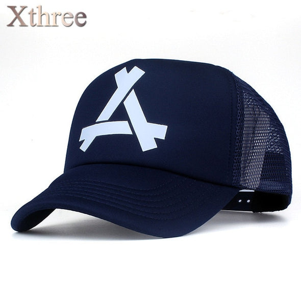 Xthree New summer baseball cap mush cap 5 panels girl snapback hat for men women casual casquette gorras