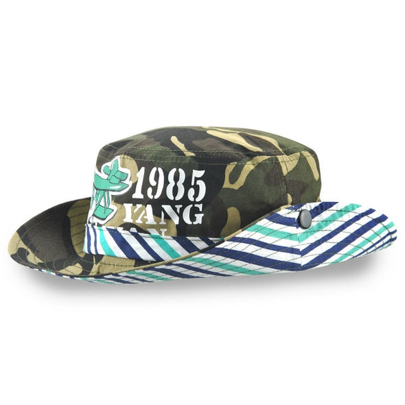 Xthree New Cotton camouflage bucket hat cowboy Summer cap kids cap baby boy hat casquette garcon sun hat for children
