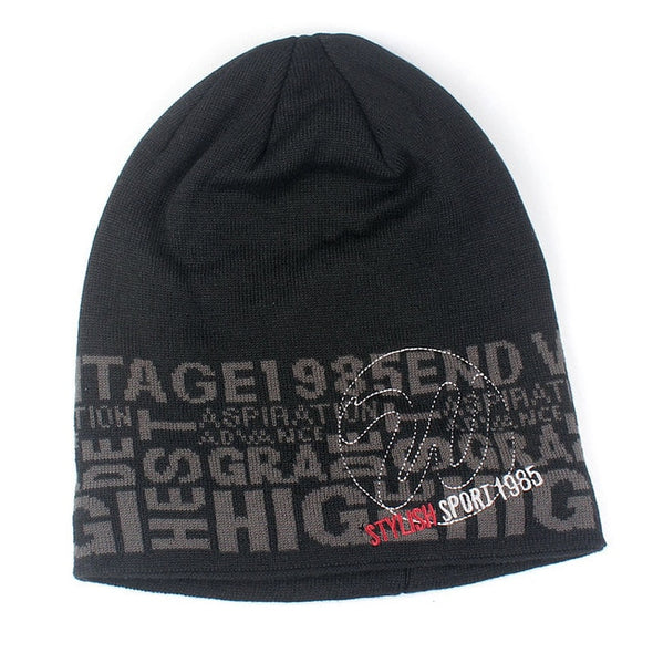 Xthree Men Winter Hat Knitted Beanies Skullies Warm Bonnet Caps Baggy Brand Solid Thicken Fur Winter Hats For Men Women