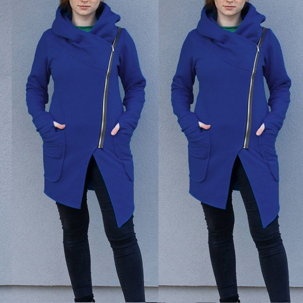 Women Winter Zipper Blouse