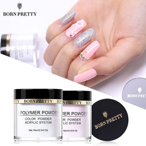 BORN PRETTY Pink White Clear Acrylic Powder