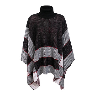 Simplee Knitted turtleneck cloak