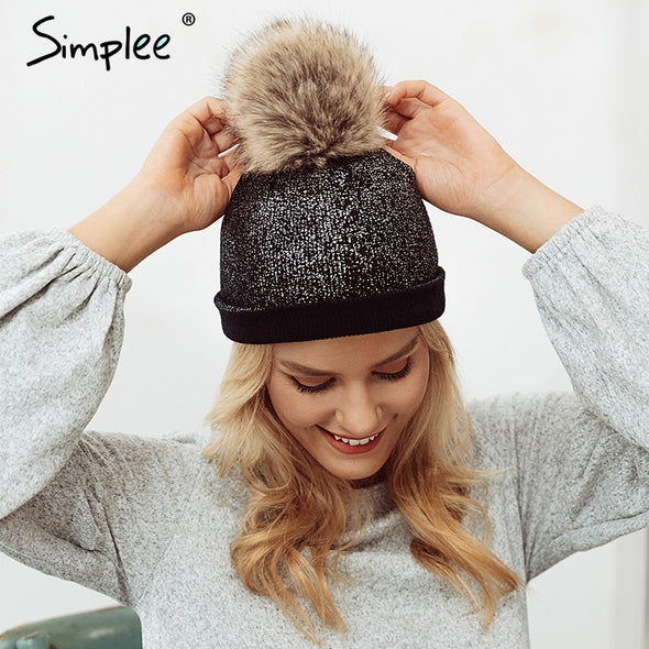 Casual Women Black Cap
