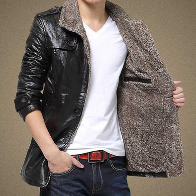 Warm Winter Jacket Leather