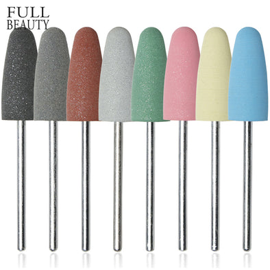 Full Beauty 1pcs 8 Different Grit Grinding Nail Buffer Drill