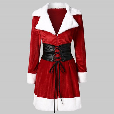 Women Santa Coat Christmas