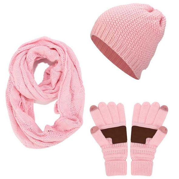 Winter Hats Scarf Gloves