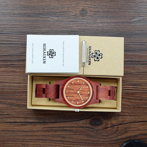 Rose Wood Watch Women