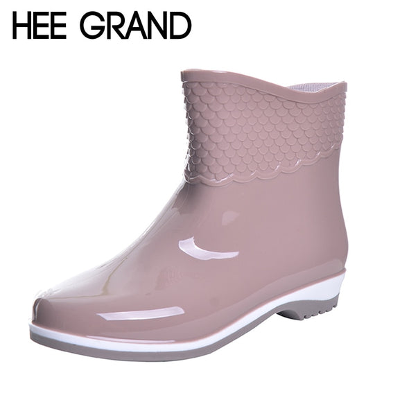 HEE GRAND Rubber Boots For Women