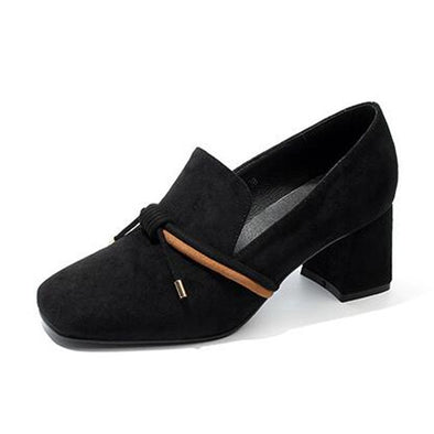 Thick Heel Pumps Women Causal Shoes