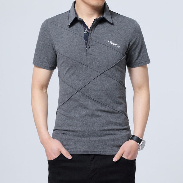 Men's Short Sleeves Lapel T-shirt