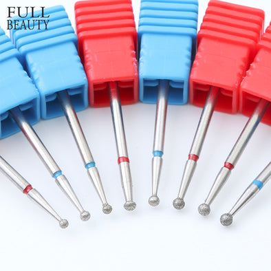 1pcs 8 Size Spherical  Rotary Burr Nail Drill