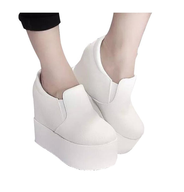 Women Boots Solid Soft High Heels