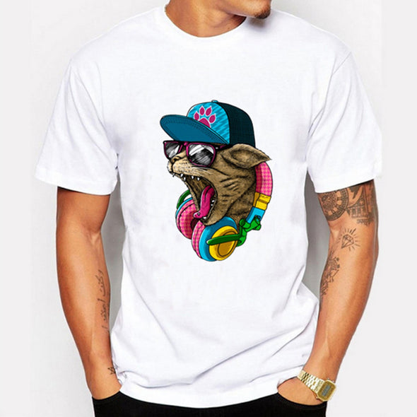 Men's Fashion Cat Design T shirt