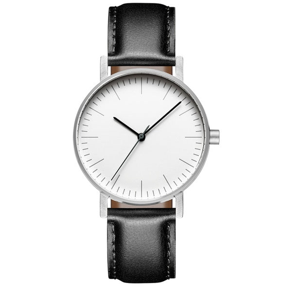 Bauhaus Minimalist Style Watch Swiss Rhonda 763 Movement Minimal 36mm