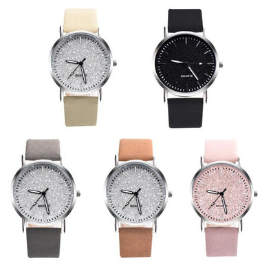 Ladies Simple Watches Minimal Analog Leather Round Dial Wristwatch Watch Clock Gift
