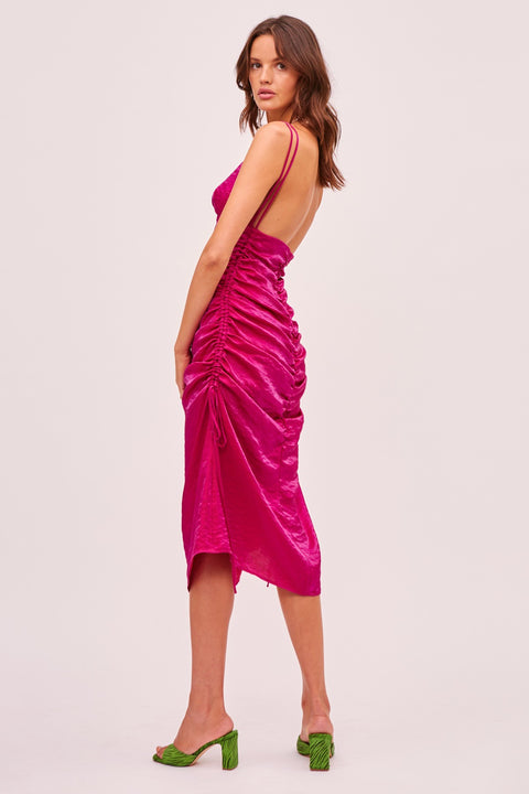 Finders Keepers - Yasmine Dress - Fuchsia
