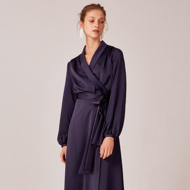 C/MEO Collective - LATE THOUGHTS MIDI DRESS | NAVY