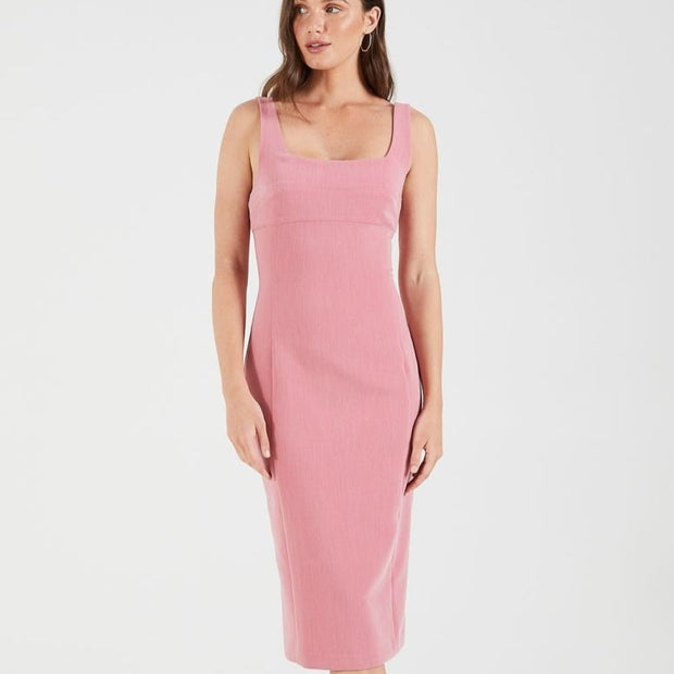 Cooper St - Ritz Bodycon Midi Dress - Rose