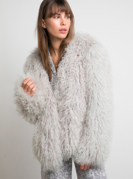 I Love Lilya - MONGOLIAN LAMB FUR JACKET | PUTTY