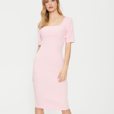 Cooper St - Hailey Fitted Dress - Pink