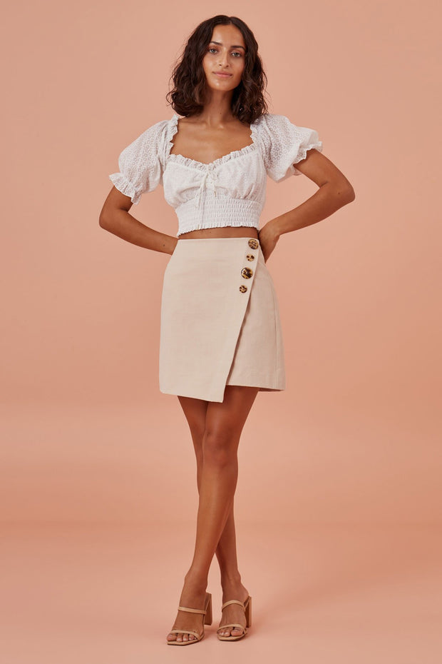 Finders Keepers - Tia Skirt - Champagne
