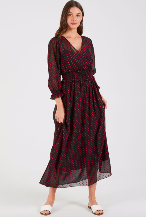 Cooper St - GRACIE MAXI DRESS | BLACK / RED