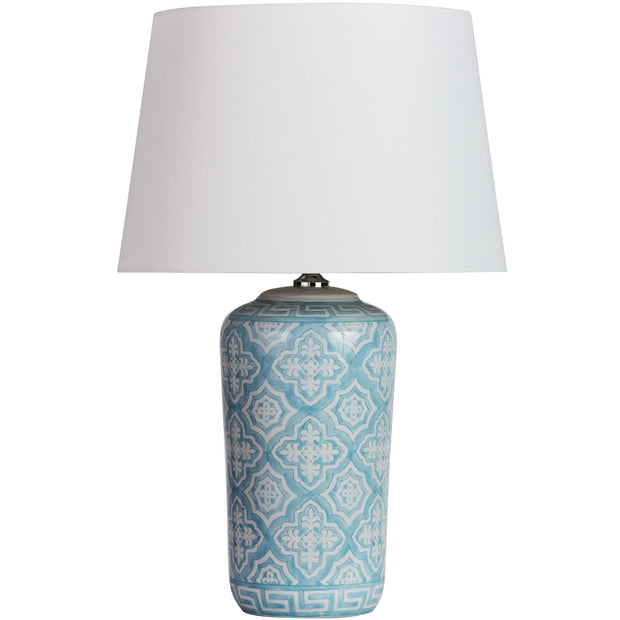 Canvas & Sasson - Hastings Lamp - White & Blue