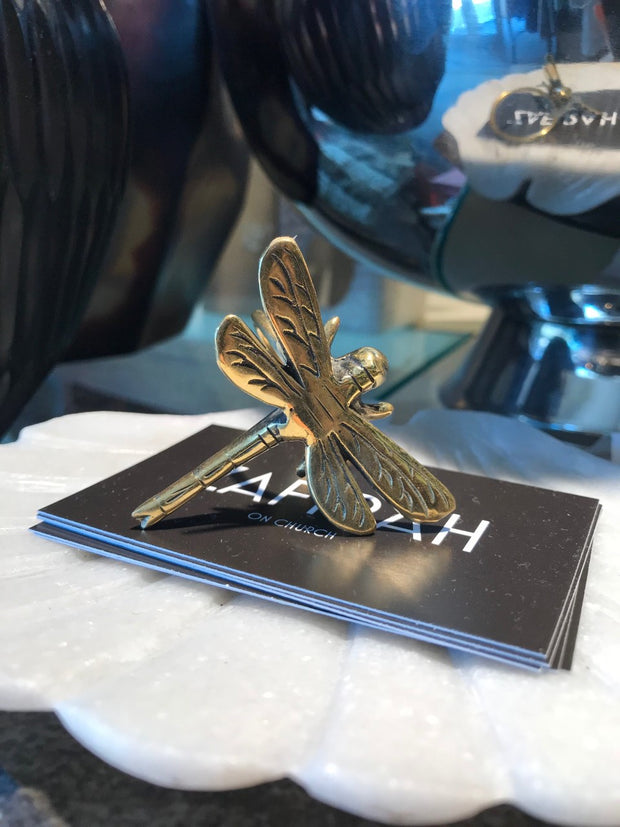 Zafirah - Dragon Fly Napkin Ring - Brass