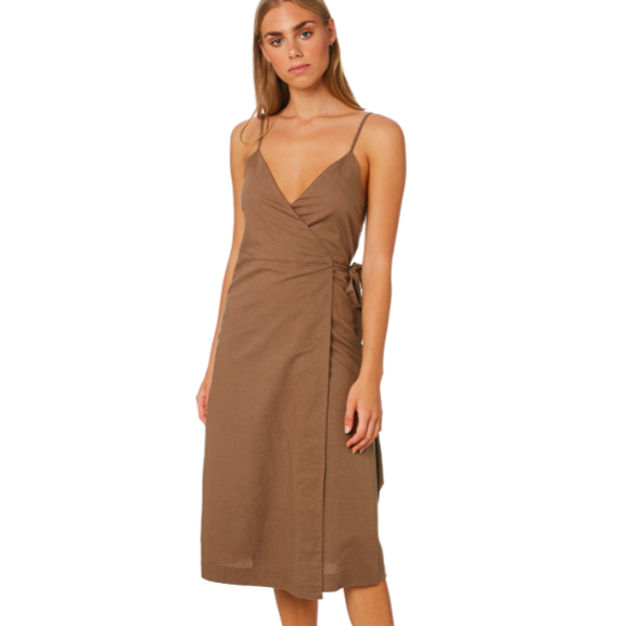 Nude Lucy - Piper Wrap Dress - Chocolate