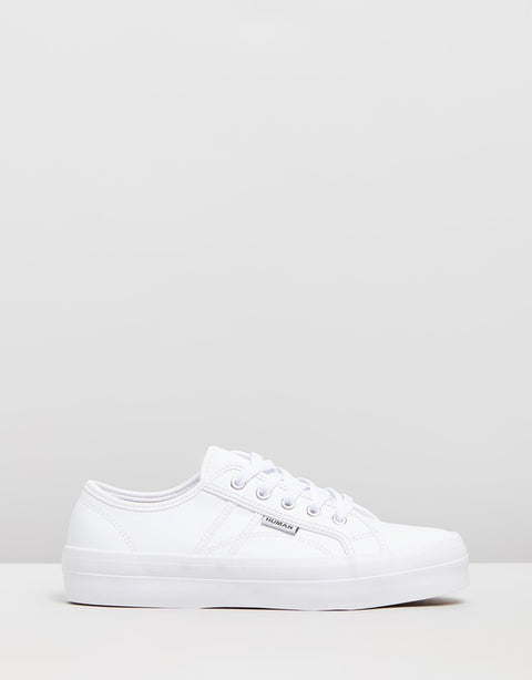 Human Premium - Cass Leather Sneaker - White